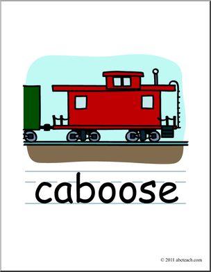 304x392 Caboose Clip Art
