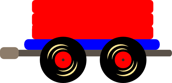 600x292 Caboose Loco Train Clip Art