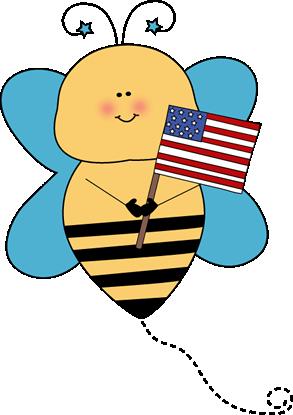 293x415 Bee Flag Holder Clip Art