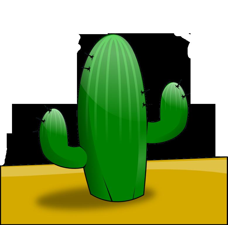 779x771 Free cactus in the desert clip art