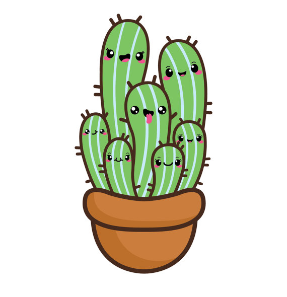 570x590 30% Off Kawaii Clip Art Valentine Clipart Kawaii Cactus
