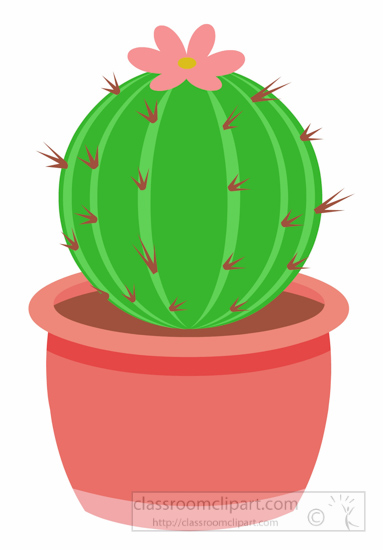 383x550 In The Desert Clipart Barrel Cactus