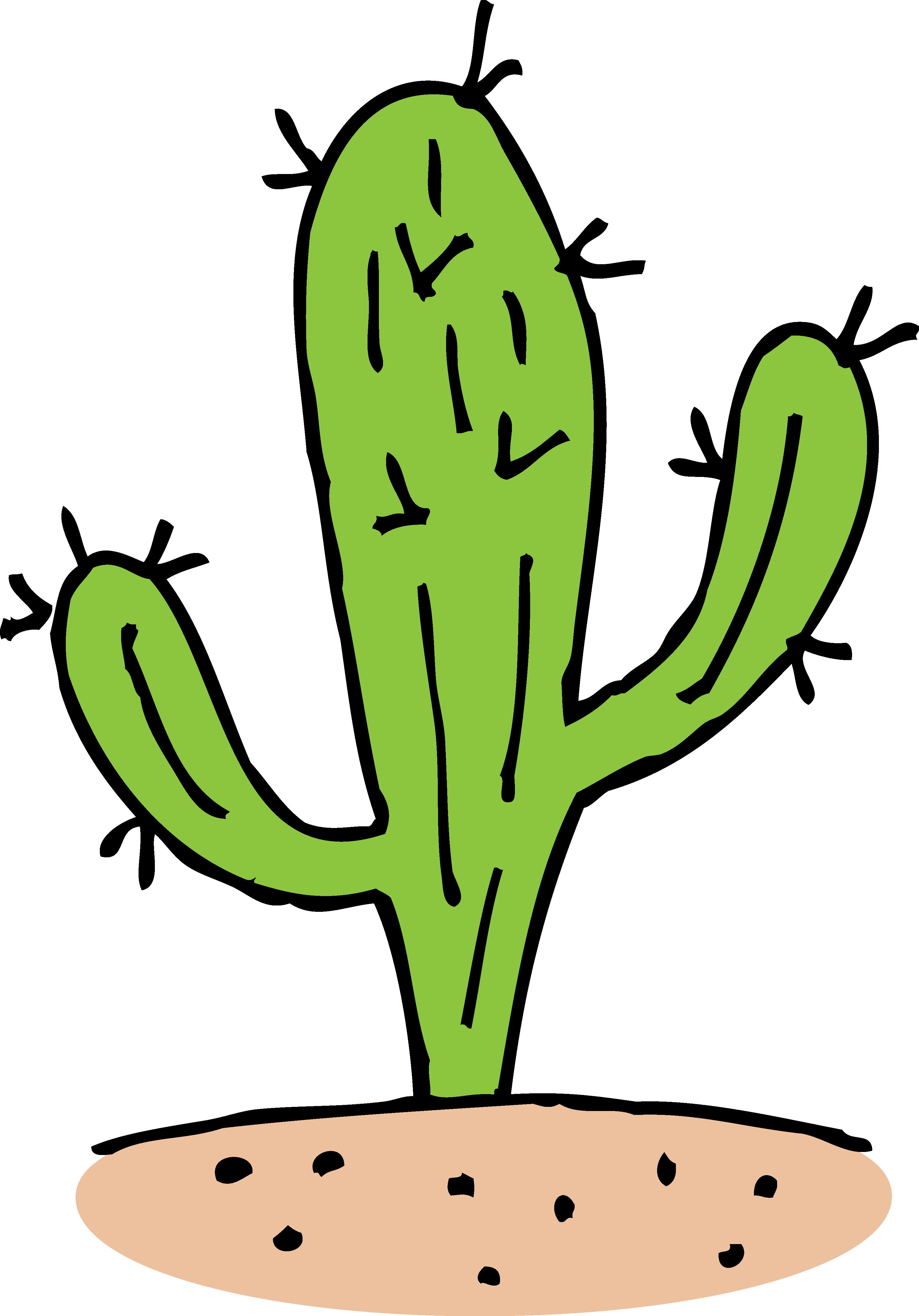 3323x4757 Prickly Cactus Clipart Design