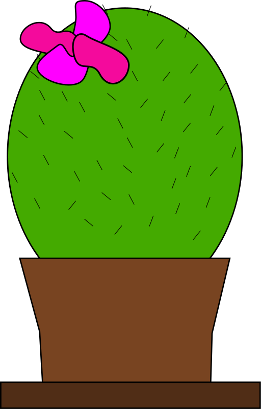 512x800 Free Cactus With Flower Clip Art