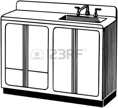 450x410 Clip Art Of Kitchen Sink Counter. Money Counter Clip Art, Toilet