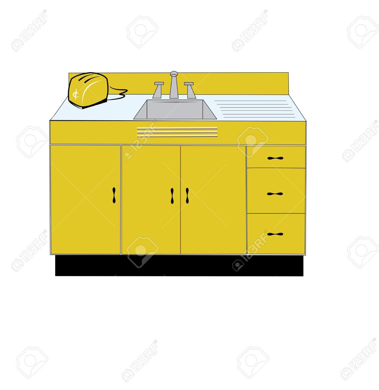 1262x1300 Kitchen Counter And Sink Clip Art. Money Counter Clip Art, Kitchen