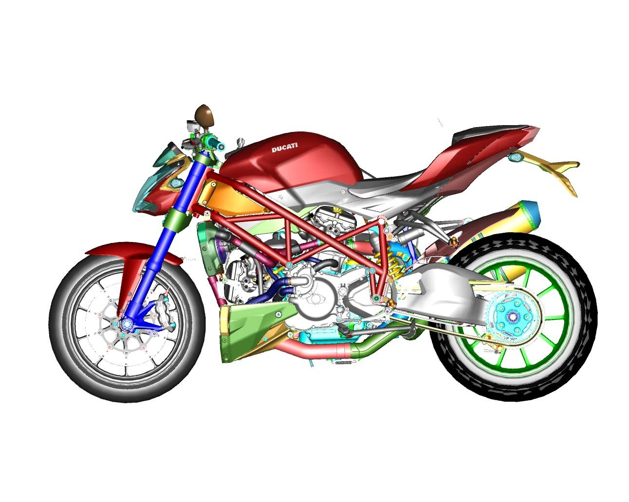 1292x1031 Streetfighter 848 Clipart