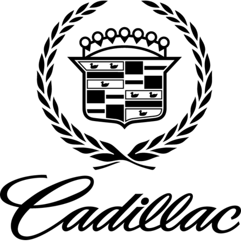 800x800 Cadillac Emblem Decal Sticker
