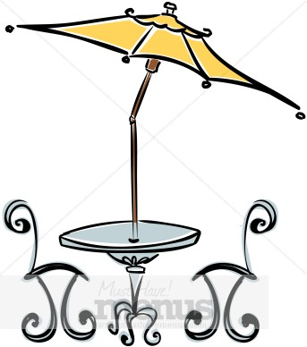 343x388 Cafe Table Clipart Cafe Clipart