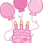 150x150 Clipart Birthday Cake And Balloons Pink Birthday Balloons Clipart