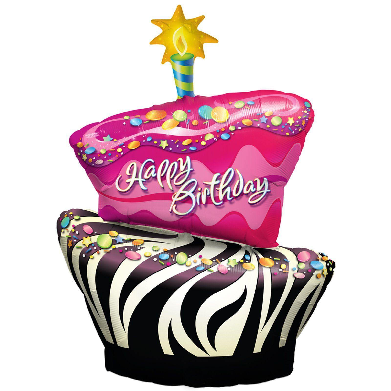 1600x1600 Funky Zebra Birthday Cake Foil Balloon Zebra Birthday Cakes