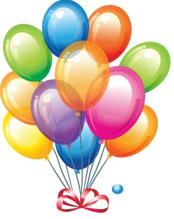 350x442 Graphics For Birthday Balloons Vector Graphics