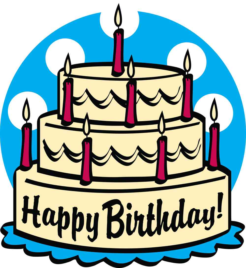 1000x1093 Happy Birthday Clipart Cake