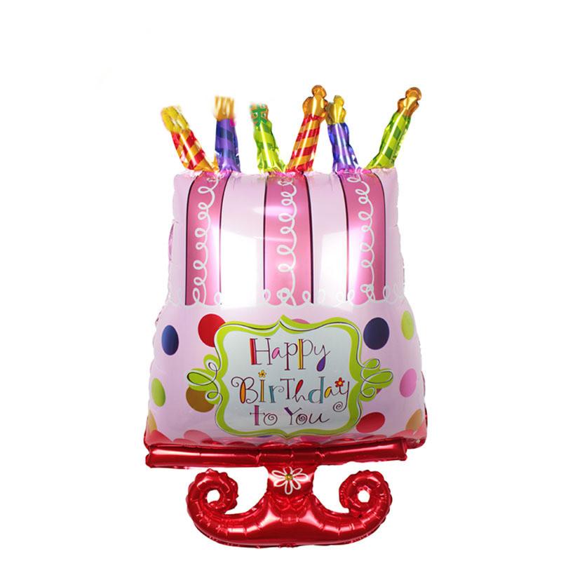 800x800 Large Size Happy Birthday Foil Balloons Birthday Cake Rainbow