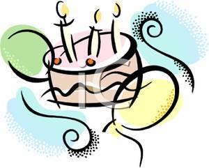 300x241 And Birthday Cake Clip Art Image