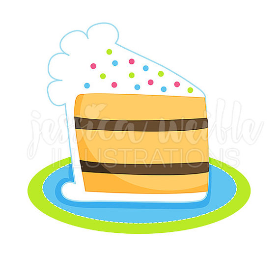 570x570 Slice Of Cake Clipart Slice Of Birthday Cake Cute Digital Clipart