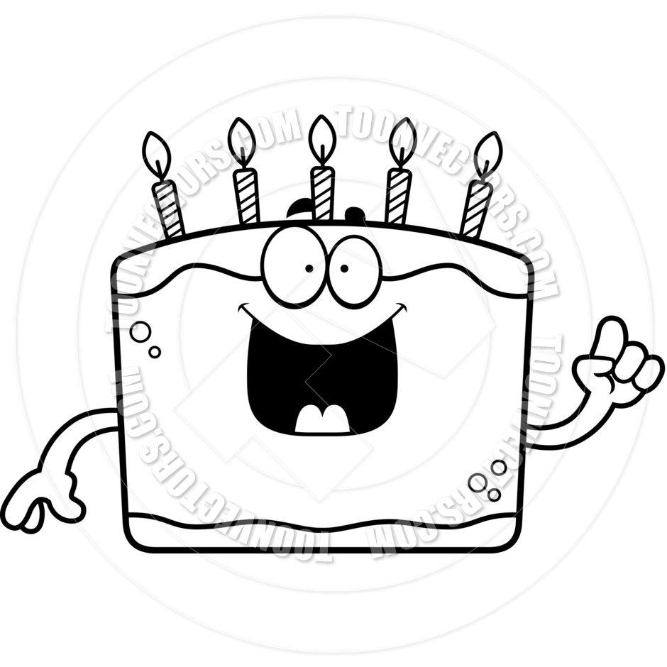Cake Clipart Black And White