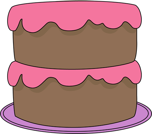 500x442 Chocolate Cake With Pink Frosting Clip Art