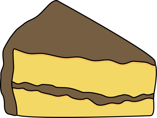 500x376 Slice Of Yellow Cake With Chocolate Frosting Clip Art