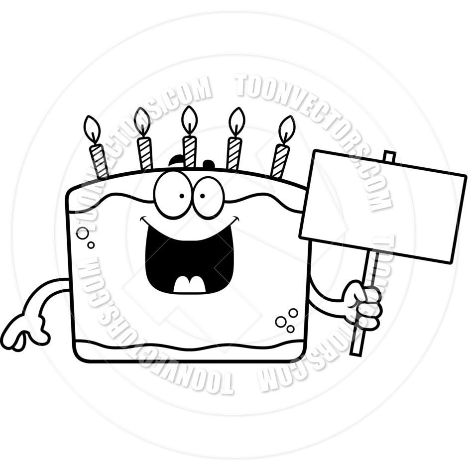 940x940 Black Birthday Cake Clipart