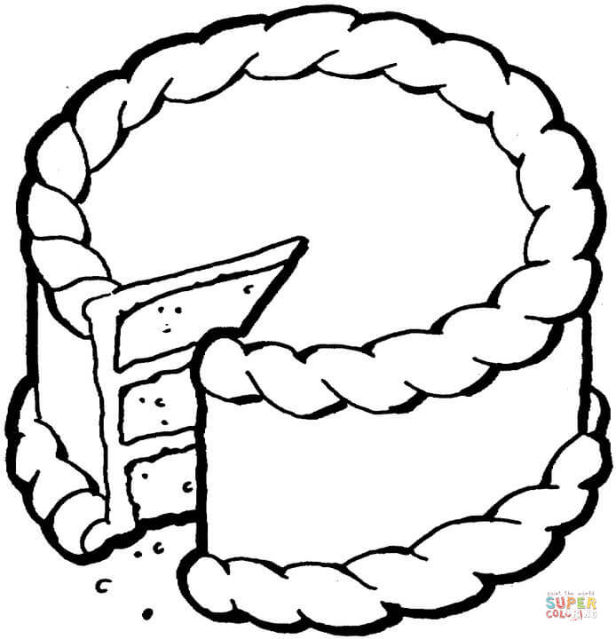 694x720 Cake Coloring Pages Free Printable Pictures