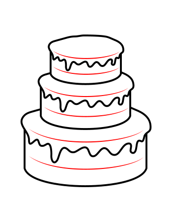 350x400 Drawing A Cartoon Cake