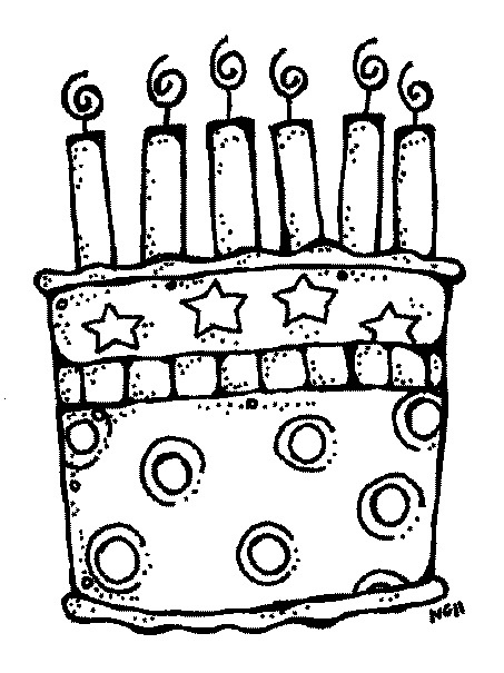 453x605 6th Birthday Cake Clip Art