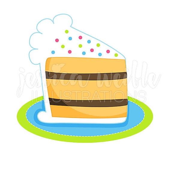 570x570 Slice Of Birthday Cake Cute Digital Clipart Cake Clip Art