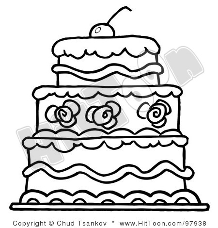 450x470 Wedding Cake Clipart Outline