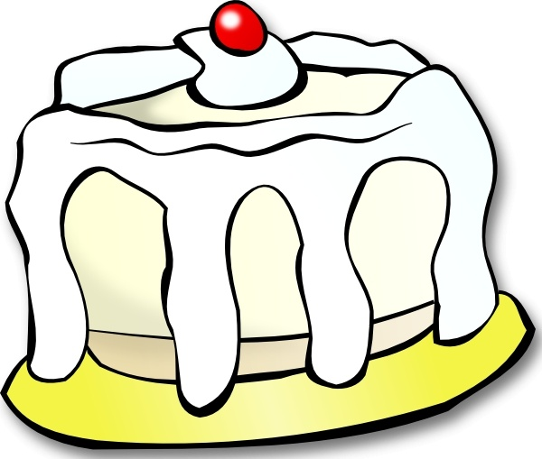 600x509 White Cake Clip Art Free Vector In Open Office Drawing Svg ( Svg