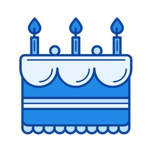300x300 Birthday Cake Vector Royalty Free Stock Image