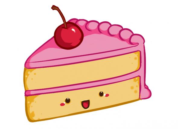 590x429 Cake Slices Clipart