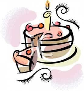 277x300 Cake Slice Clipart Free