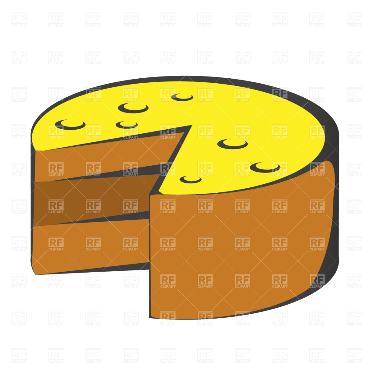 1200x1200 Cake With Missing Slice Royalty Free Vector Clip Art Image