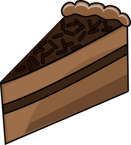 272x300 Clip Art Slice Of Chocolate Cake Clipart