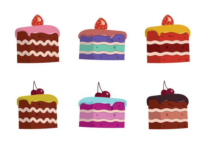 700x490 Free Cake Slice Isolated Vector Illustration