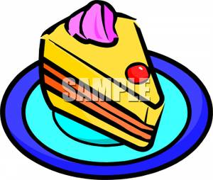 300x254 Picture A Cake Slice On A Plate