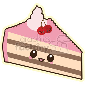 300x300 Royalty Free Cake Slice Vector Clip Art Image 393796 Vector Clip