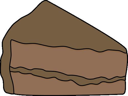 500x376 Slice Of Chocolate Cake Clip Art