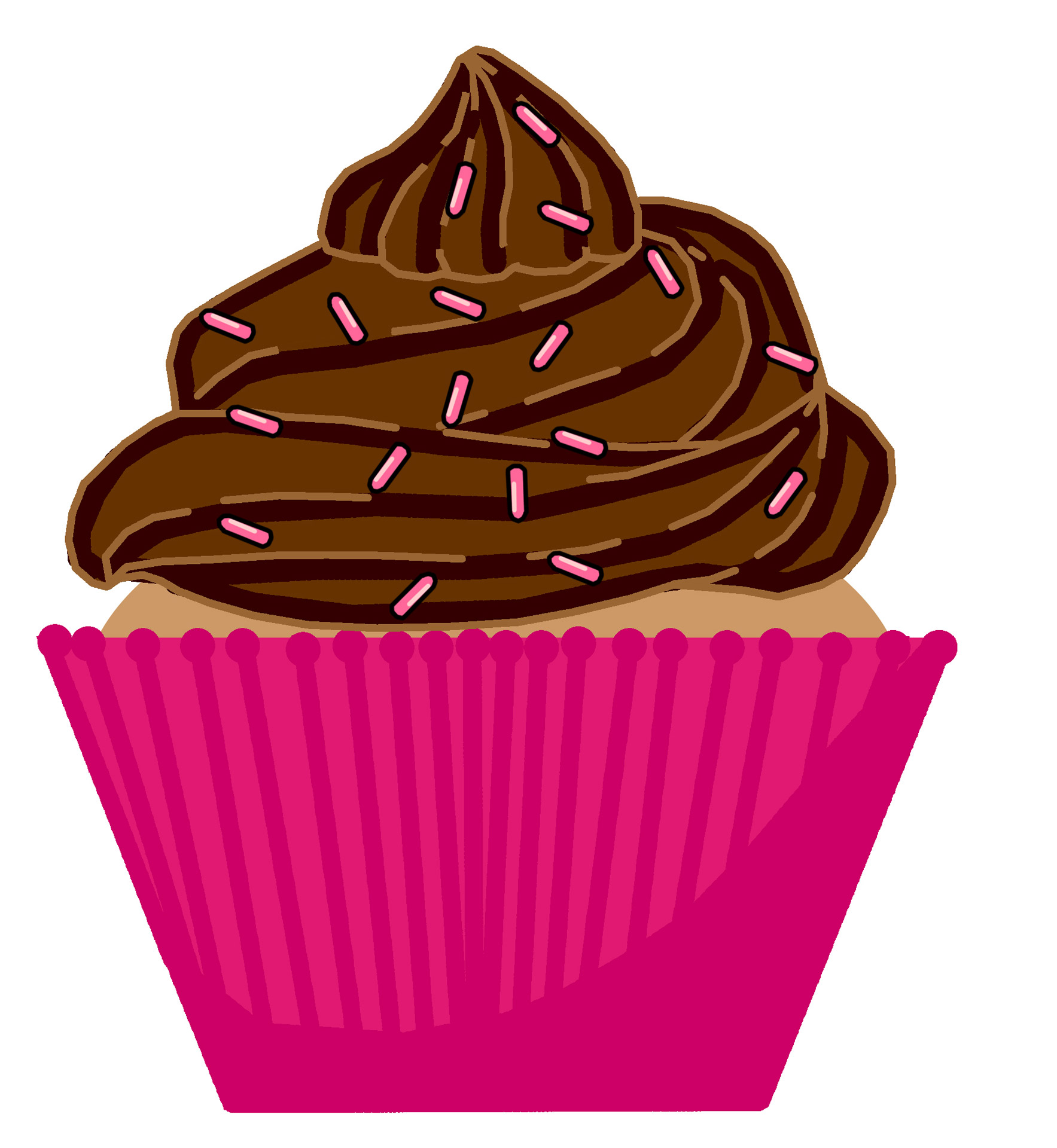 1767x1920 Chocolate Cake Clipart Fancy Cupcake