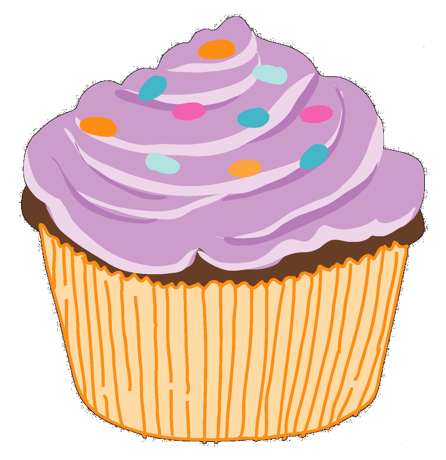 1500x1550 Chocolate Cake Clipart Simple Cupcake