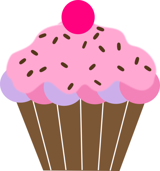 558x595 Cup Cake Clipart