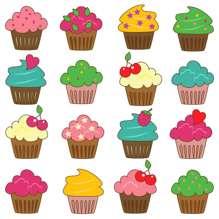 736x736 Cupcake Clipart Ideas On Sticker Cake 3