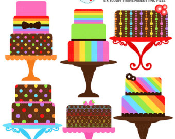 340x270 Floral Cakes Clipart Set Clip Art Set Of Cakes Vintage
