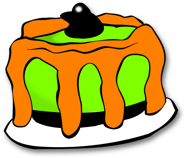 600x510 Pumpkin Birthday Cake Clipart