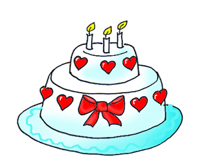 285x240 Birthday Cake Clipart Funny