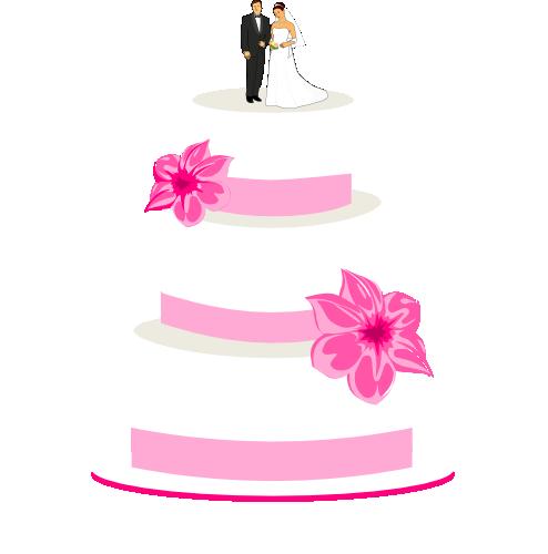 494x500 Drawn Wedding Cake Clipart