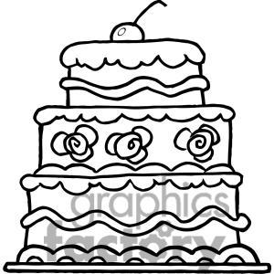 300x300 Layered Birthday Cake Clip Art