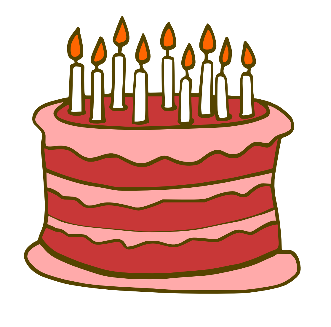 1117x1103 Red Birthday Cake Clipart