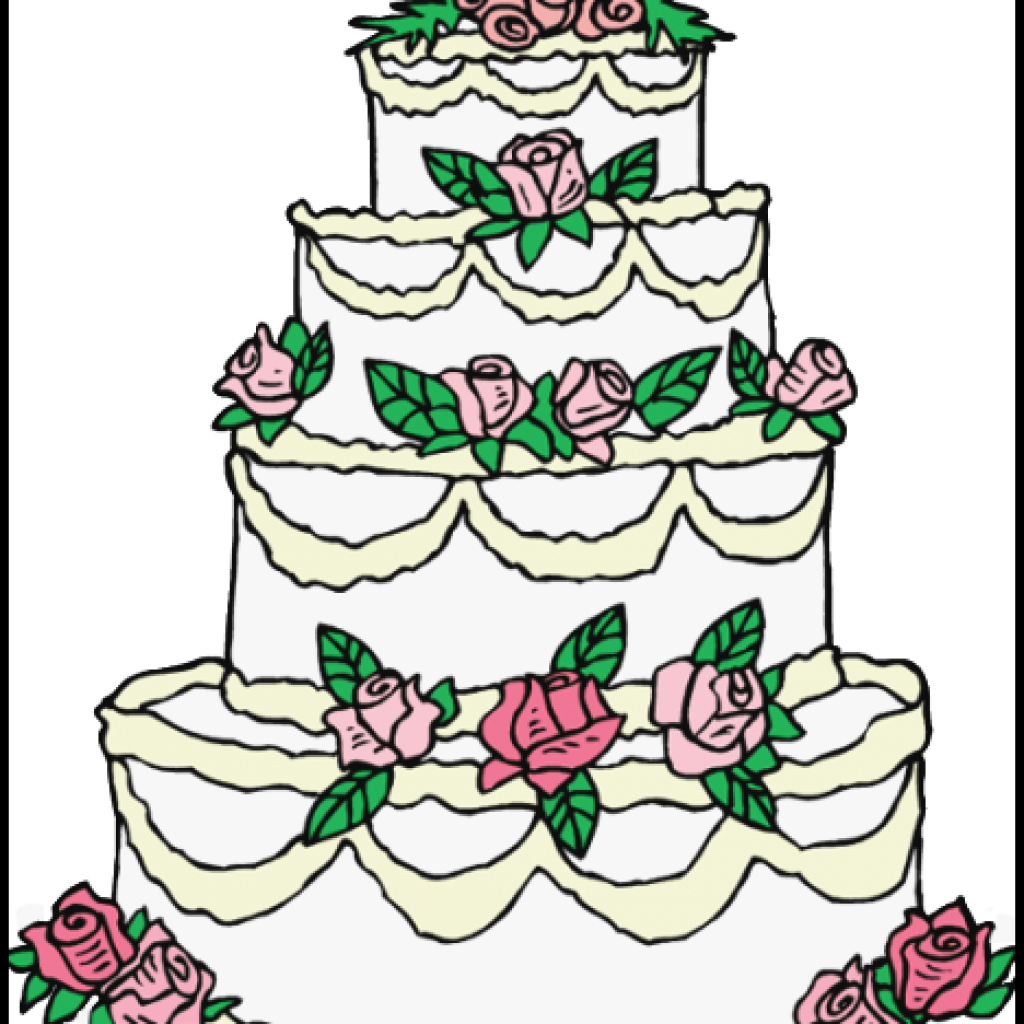 1024x1024 Wedding Cake Clipart New Wedding Cake Color Pages Free Printable